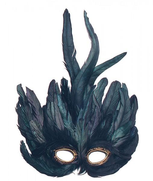 Elegante Feder Augenmaske Venezia