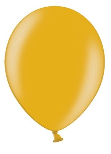 10 party star metallic balloons gold 27cm