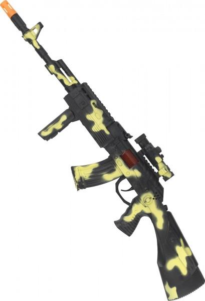 Spielzeuggewehr Im Tarnlook Mit Sound 59cm