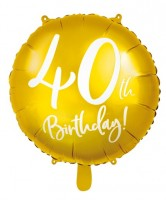 Glossy 40th Birthday Folienballon 45cm