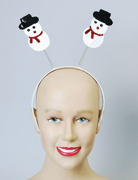 Headband with snowman motif made of sequins