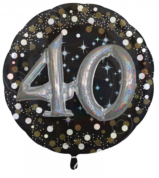 Golden 40th Birthday foil balloon 81cm