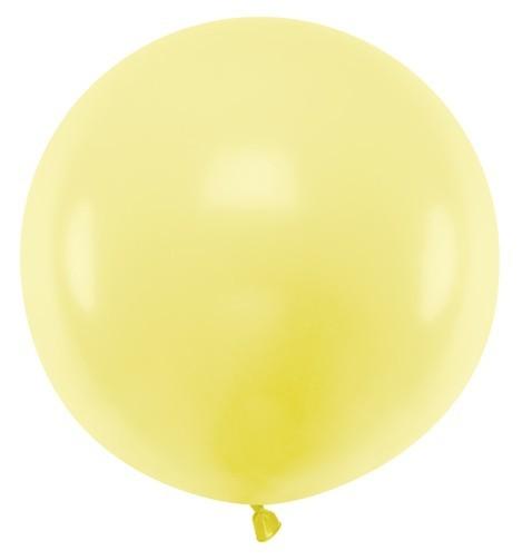 XL balloon party giant lemon yellow 60cm
