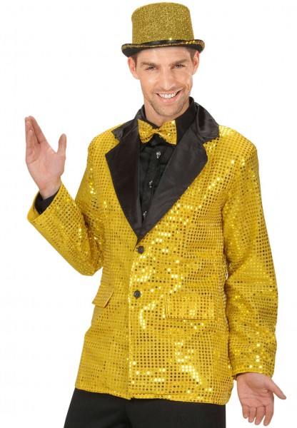 Showmaster Pailletten Goldjackett