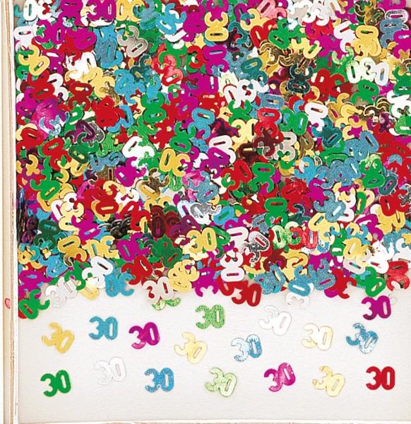 30. Geburtstag Rainbow Party Streudeko Bunt Metallic
