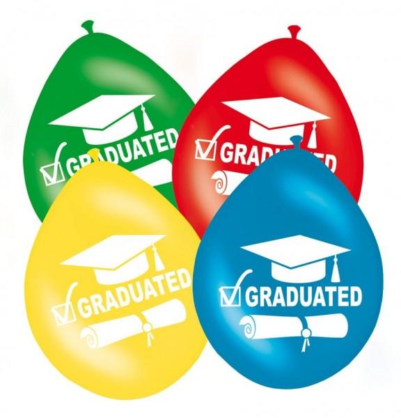 8 Bunte Graduated Luftballons 30cm