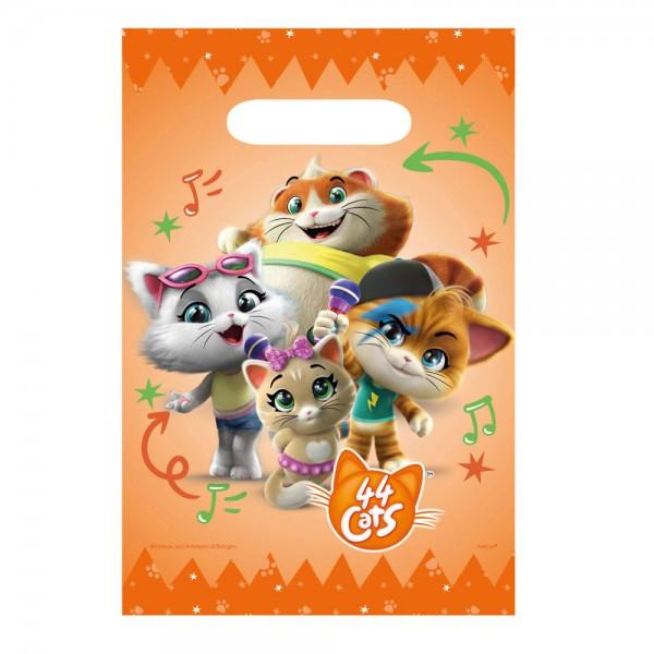 8 Papier Geschenktüten 44 Cats