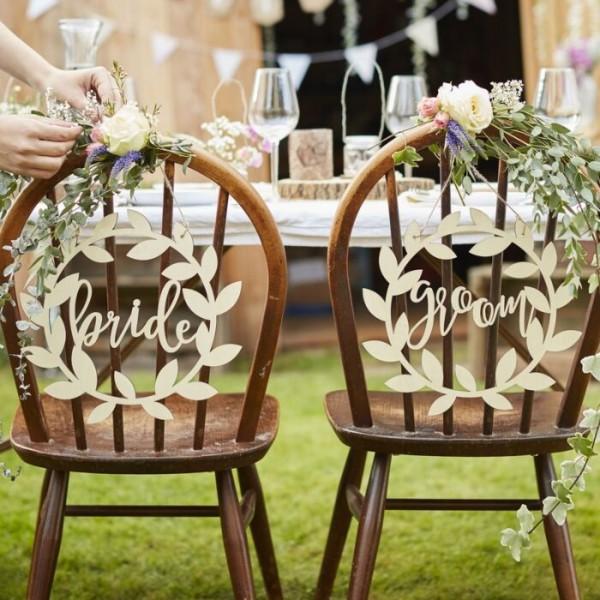 2 Landliebe Hochzeit Brautpaar Schilder
