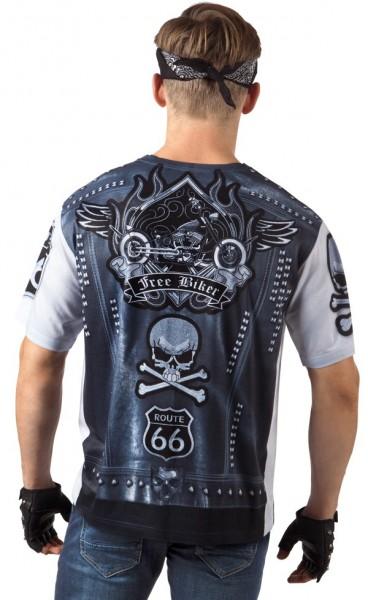 Camicia da motociclista in 3D per uomo