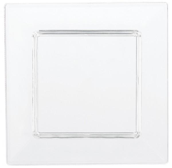 40 mini-assiettes Party Buffet Transparent 7.6cm