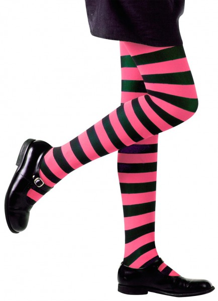 Collants enfants Janna Pink-Black