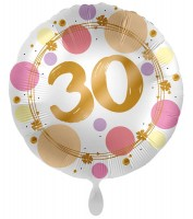 30. Geburtstag Ballon Happy Dots 45cm