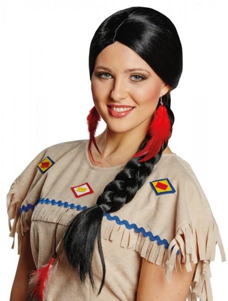 Flechtzopf Indianer Perücke