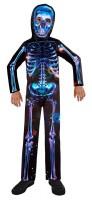 Neon Skelett  Kinderkostüm recycelbar