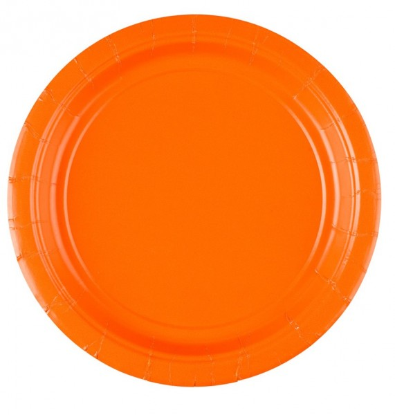 8 Pappteller Partytime Orange 17,7cm
