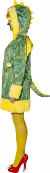 Fluffy Dragon Dress In Green-Yellow