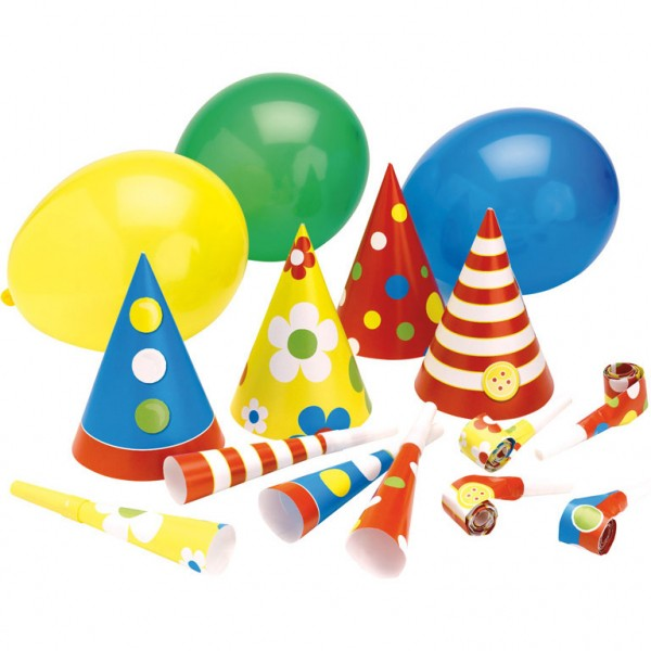 Buntes Kindergeburtstag Party Set Celebration 16-Teilig