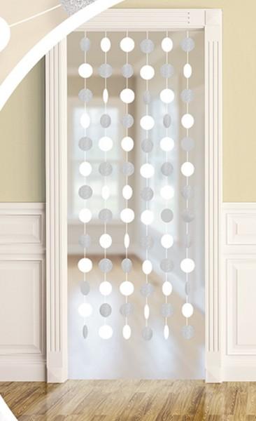 6 decorative hangers Sparkling silver-white