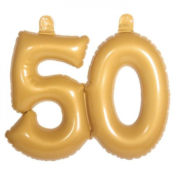 Globo de aluminio 50 cumpleaños dorado 38cm