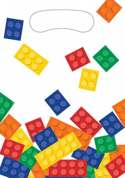 8 building blocks gift bags