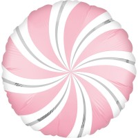 Lollipop Folienballon hellrosa 45cm