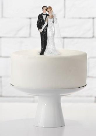 Cake figure bride and groom Romance 11cm