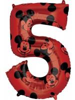 Mickey Mouse Zahl 5 Ballon 66cm