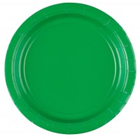 20 Pappteller grün 17cm