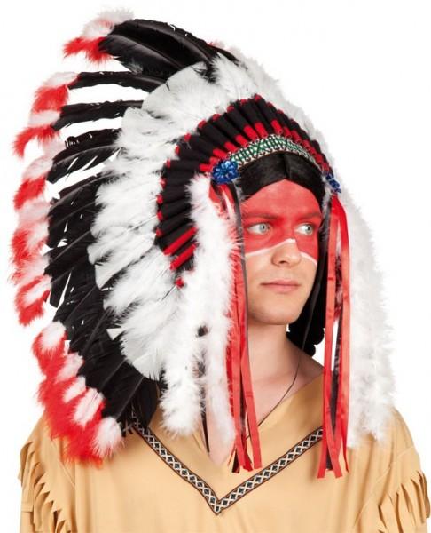 Deluxe Indianer Kopfschmuck Apache