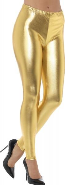 Gouden glanzende legging Goldie