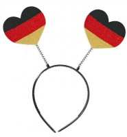 Haarreif mit Deutschlandherzen
