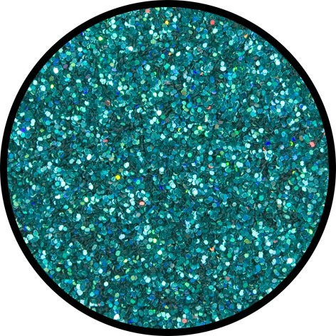 Holografisches Glitzer Grün