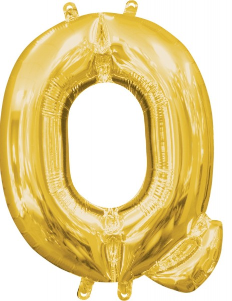 Mini Folienballon Buchstabe Q gold 35cm