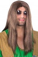 Braune Hippie Langhaarperücke Fred