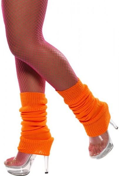 Neon Orangene Retro Beinstulpen