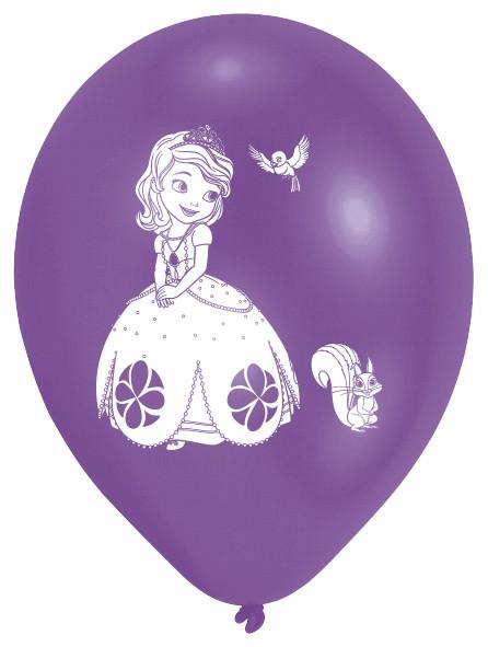 10 Prinzessin Sofia die Erste Ballons 25cm