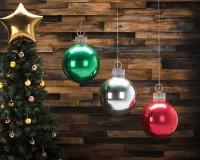 Weihnachtskugel Ballon hellblau 38 x 50cm