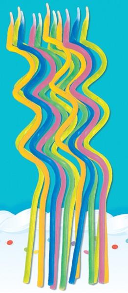 12 velas espirales de colores 12,7cm