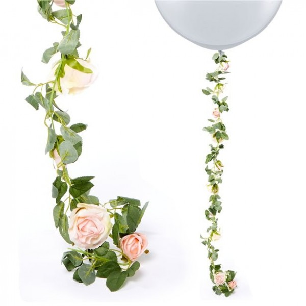 Rosa Rosengirlande 1,75m