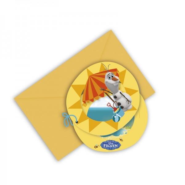6 Olafs Sommerparty Einladungskarten