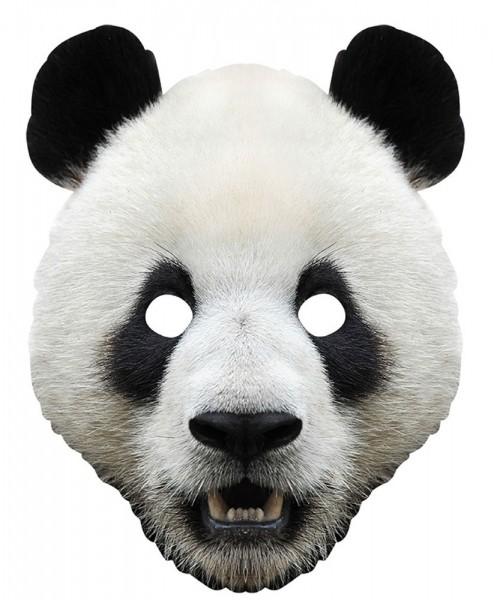 Realistische Panda Bären Pappmaske Jiao