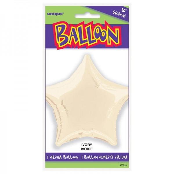 Folienballon Rising Star elfenbein