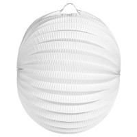 Lampion Plain weiß 22cm