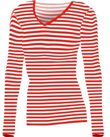 Camicia da marinaio a righe rosse e bianche