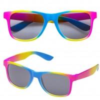 Regenbogen Partybrille In Neonbunt