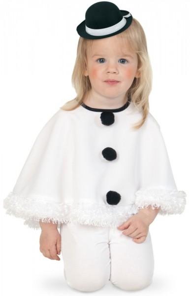 White snow cape for children