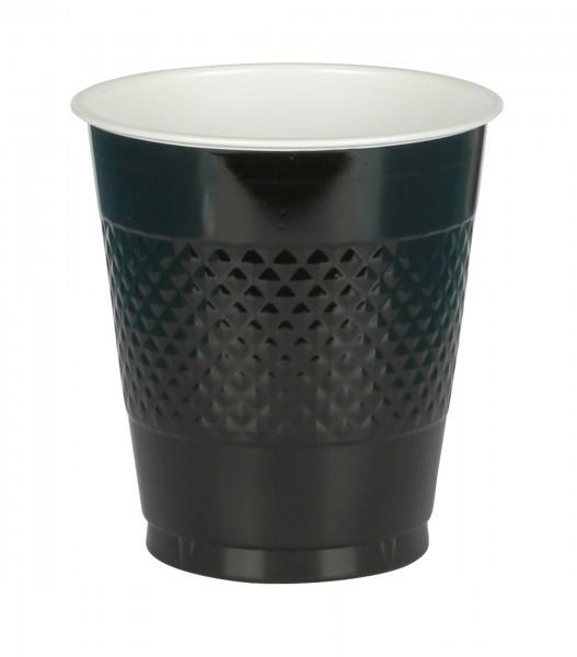 20 plastikowych kubków czarnych 355 ml