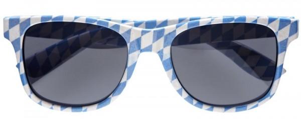 Oktoberfest feestbril in blauw en wit