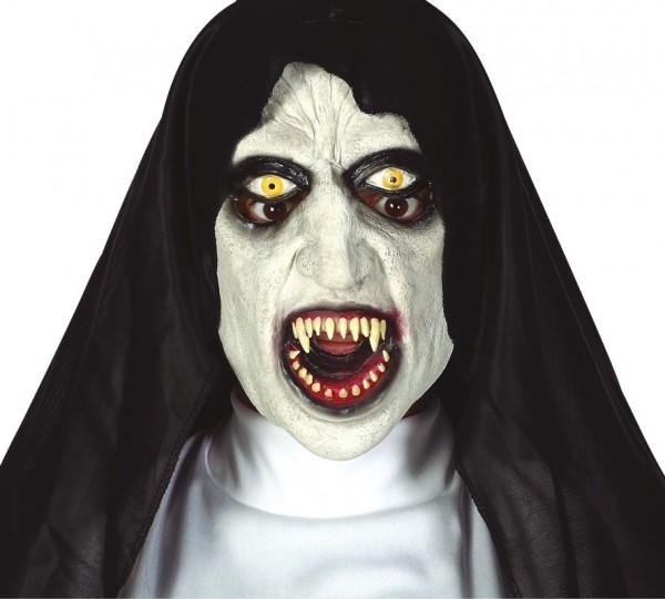 Dämonische Horror Nonnen Maske