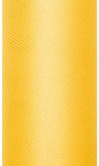 Tulle fabric Luna yellow 9m x 15cm